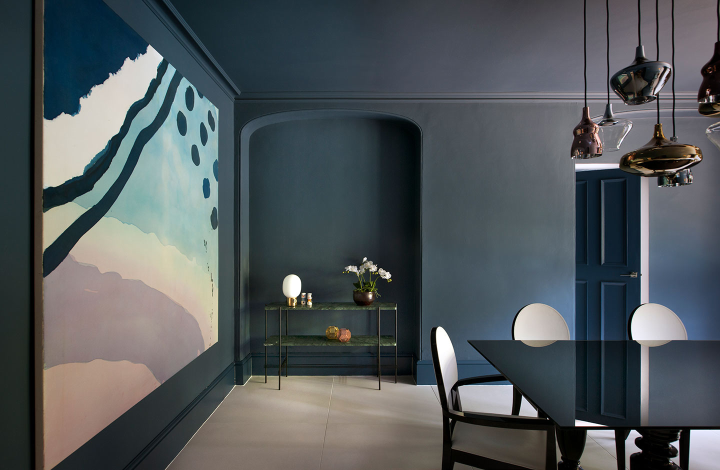 A stylish dining room interior, North London