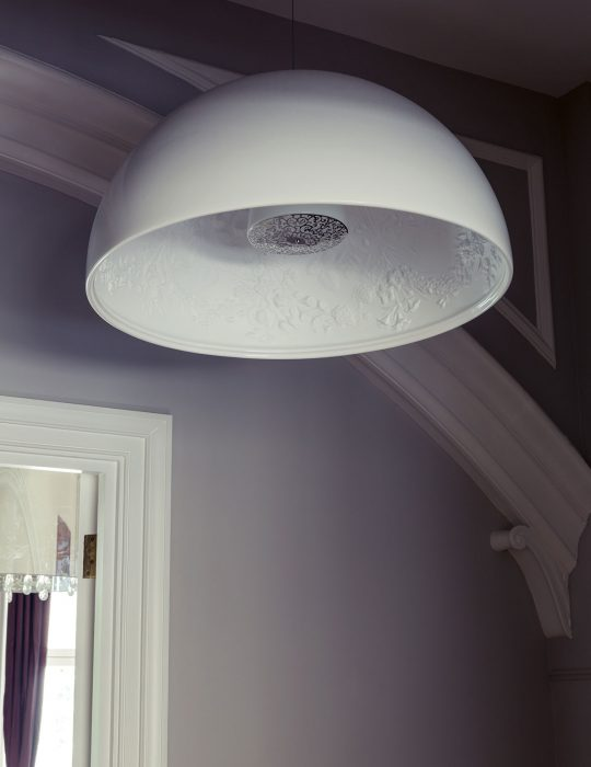 Beautiful details on a light in an interior design