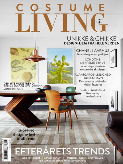 Costume Living magazine cover